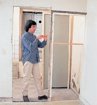 как перенести комнатную дверь видео