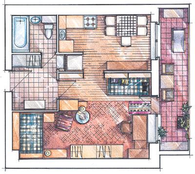 Идеи вашего дома - перепланировки. 1 комнатная,... / интерье.
