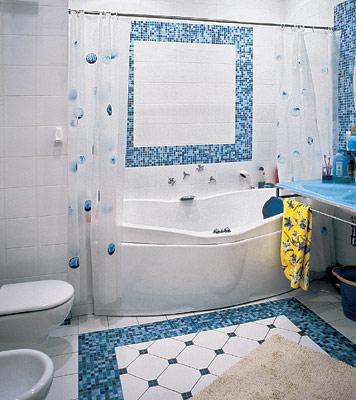 Ванна ремонт мозаика готовых работ