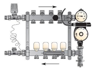 схема теплого водяного пола - Практическая схемотехника.