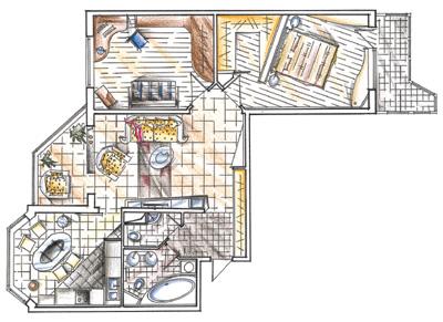 дизайн 2 комнатной квартиры планировка п44т фото