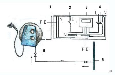 проточный водонагреватель 6 киловатт германия схема подключения