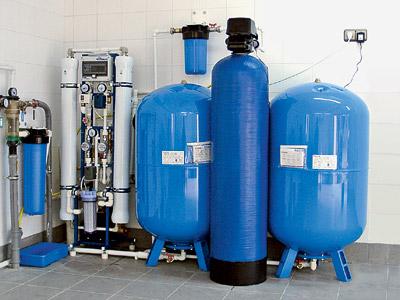 Два потока чистая вода которую можно употреблять и концентрированный раствор