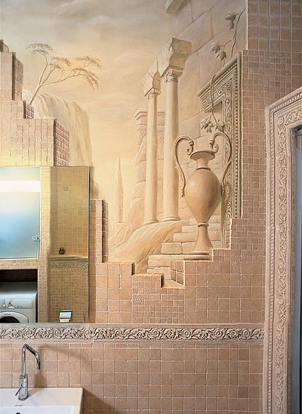 Любителям античности понравится ванная в римском или греческом стиле.
