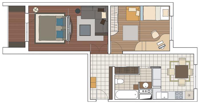 Копэ м парус двушка с 3-мя балконами фото.