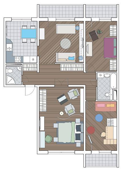 Планировка комнаты неправильной формы