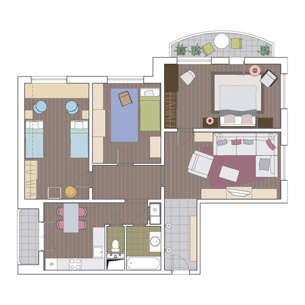 другой стороны, реальные фото трехкомная квартира в доме копэ солнце обогреет вас