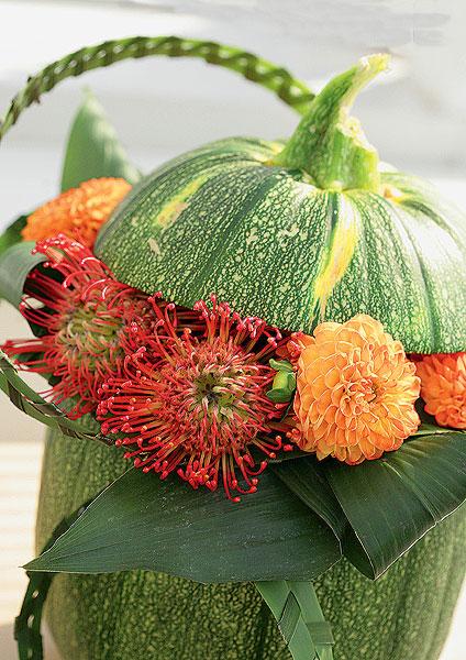 Цветочная композиция на тему цветов осенний карнавал