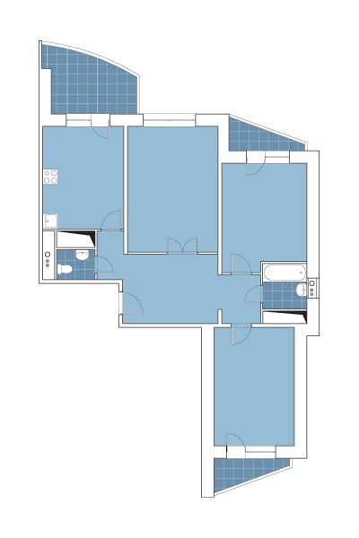серия дома и-155 планировка с размерами