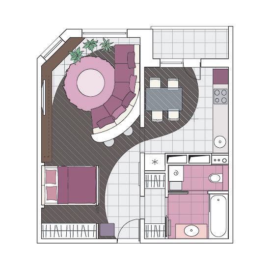 Пять дизайн-проектов квартир в панельном доме серии мпсм.
