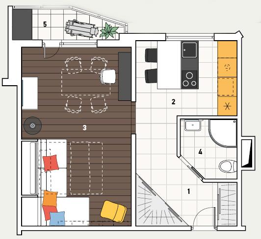 Дизайн проекты квартир п44т