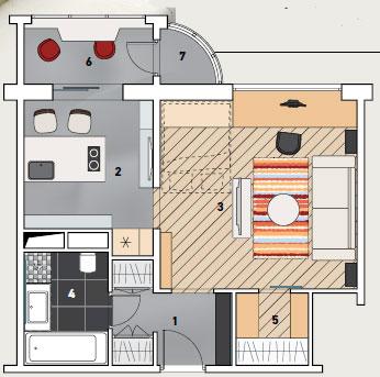 4 дизайн-проекта квартир в доме серии п111-м.