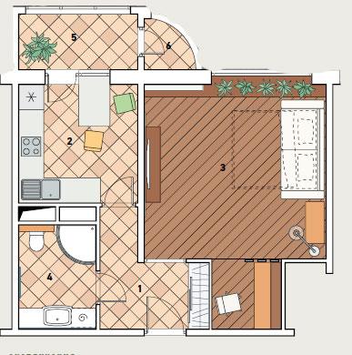 Дизайн проект балкона в доме серии п111м.