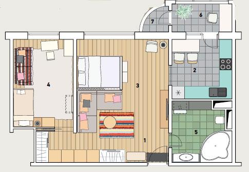 Дизайн проект квартиры п 111м