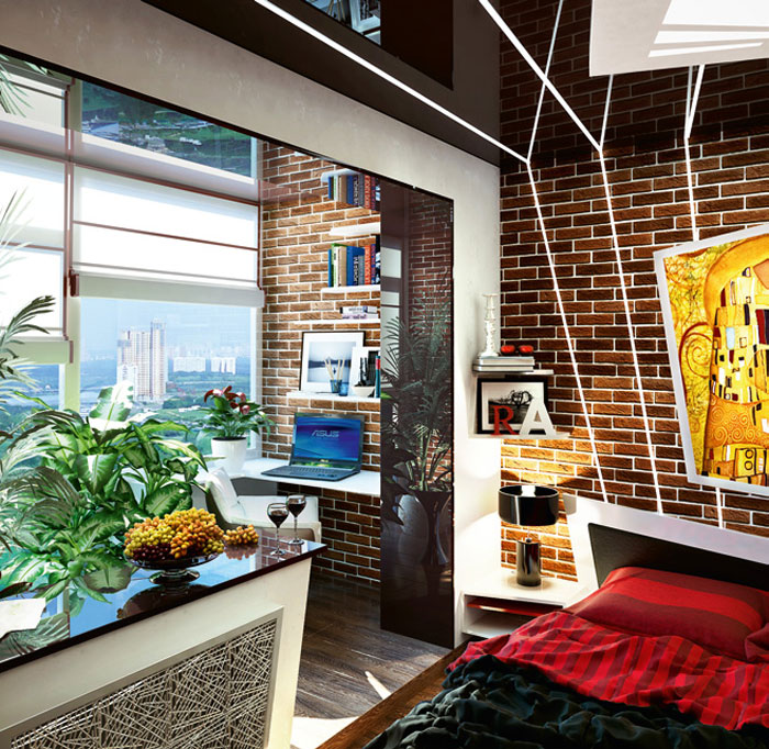 6 дизайн-проектов спален в домах типовых серий.