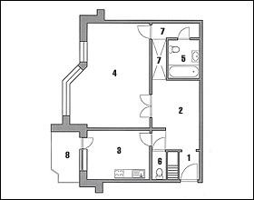 Схема квартиры - на Интерьер-инфо.