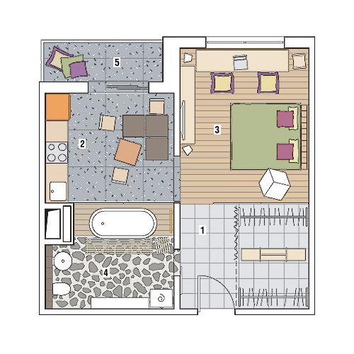 Дизайн однокомнатной квартиры П-3