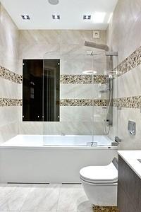 Ванная в эко-стиле: камень в отделке и спокойные цвета