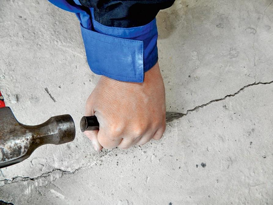 расшивка швов в бетоне