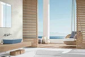 Бежевый интерьер ванной комнаты: 11 идей оформления