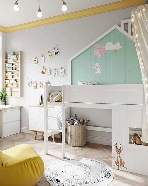 Акцентная стена в детской: 12 идей оформления, которые оцените вы и ваш ребёнок