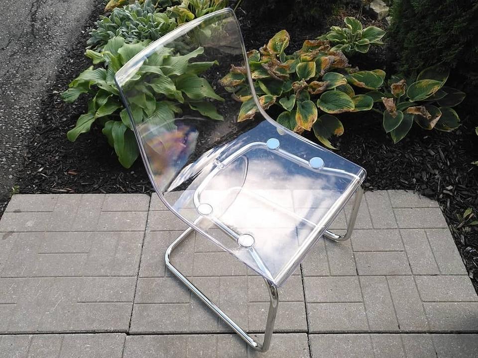 Прозрачный стул Tobias из Икеи