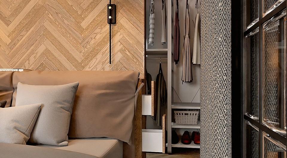 Штучный паркет на полу и стене: как реализовать смелый приём