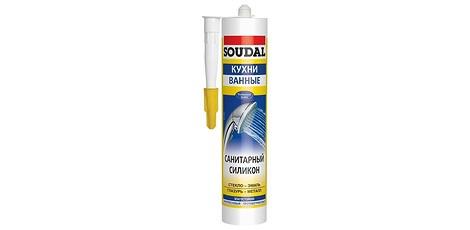 Герметик силиконовый Soudal для кухонь и ванных
