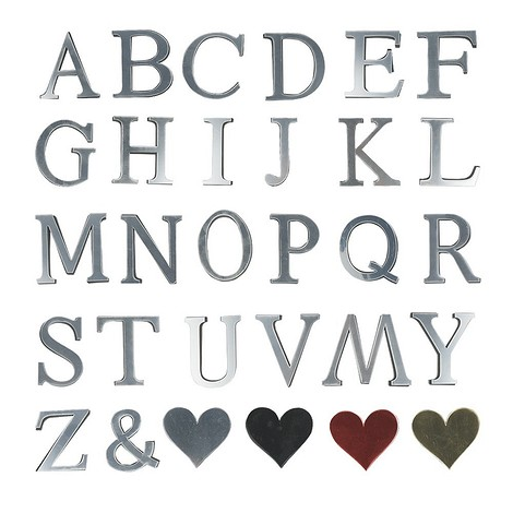 Зеркальные наклейки-буквы