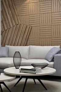 Приём в стиле контемпорари: стены с рельефными панелями