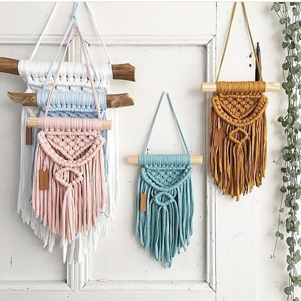 Вязанные панно
