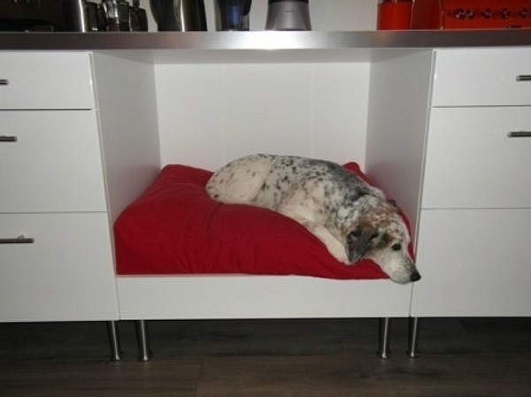 Лежанка для собаки в нише между...