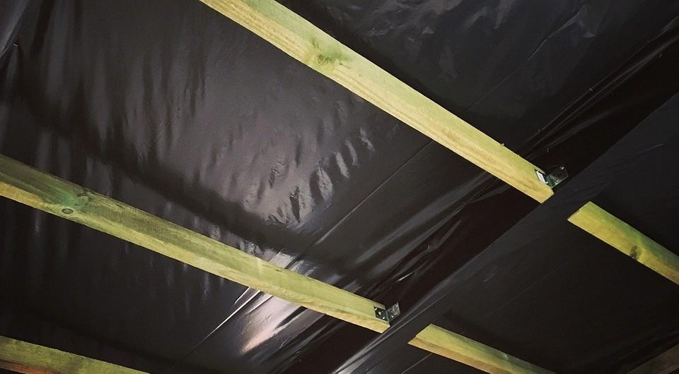 Утепление подшивного потолка