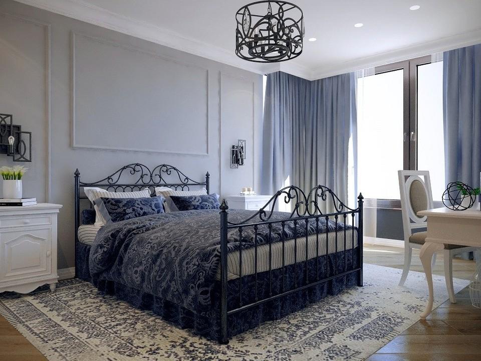 Кровать с железным каркасом