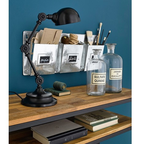 Лампа настольная из металла в промышленном стиле, Kikan