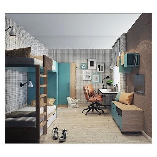 Комната для подростка в стиле м...