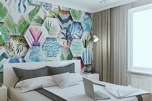 Дизайн стен в спальне: 15 необычных идей и 69 ярких примеров