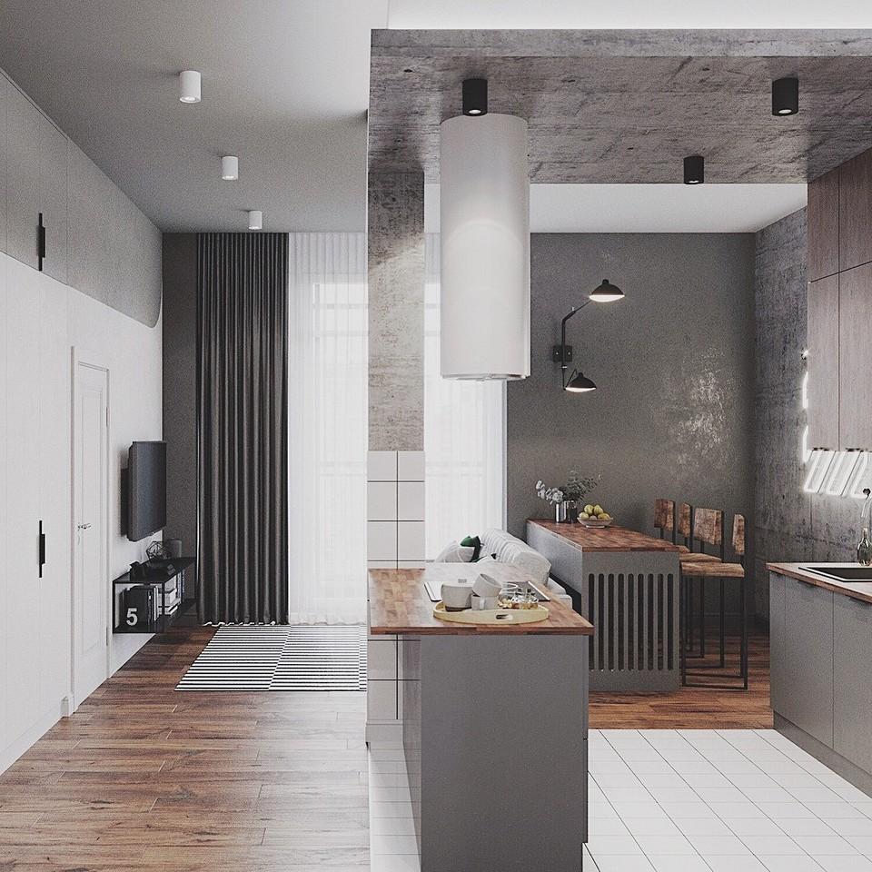 Кухонный остров для зонирован&#...