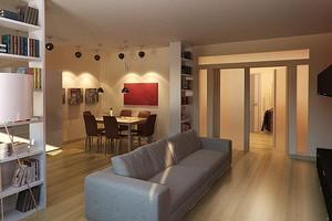 Зонирование комнаты шкафом: дельные идеи для разных задач