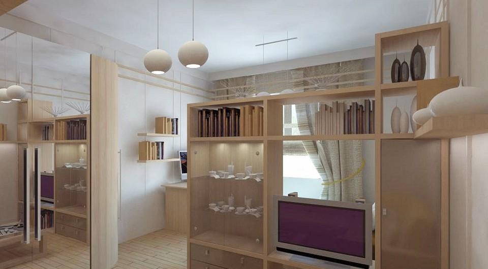 Шкаф как перегородка в комнату: идеи по зонированию для разных задач