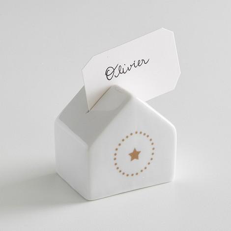Комплект из 4 фарфоровых подставок для карточек, KUBLER