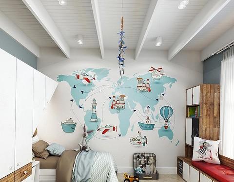 Как необычно использовать обои в детской: 9 оригинальных идей