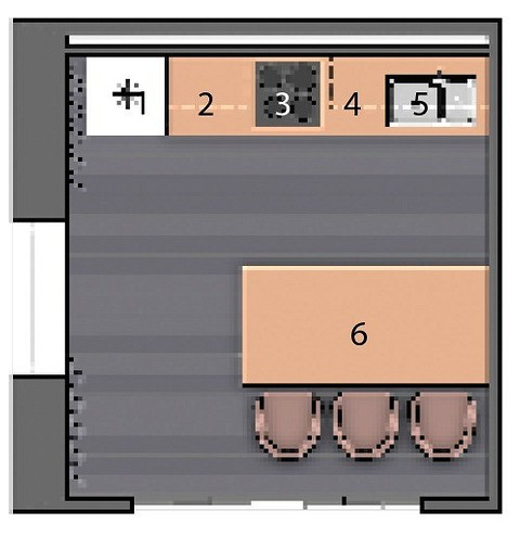 Экспликация:  1. Холодильник 2. Раб&#...