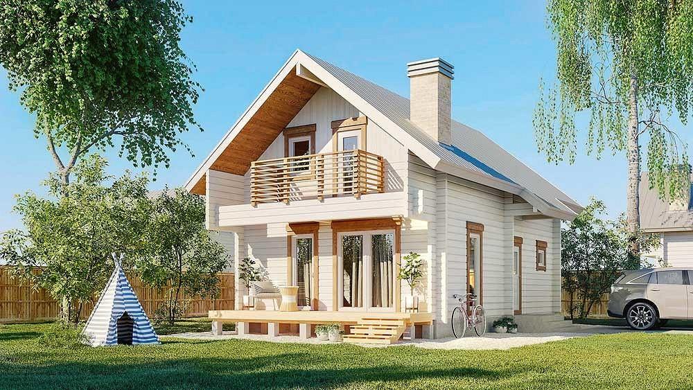 Как пристроить балкон в доме деревянном из бруса фото примеры