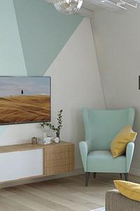 Как оформить акцентную стену в гостиной: 8 свежих идей и 17 ярких примеров