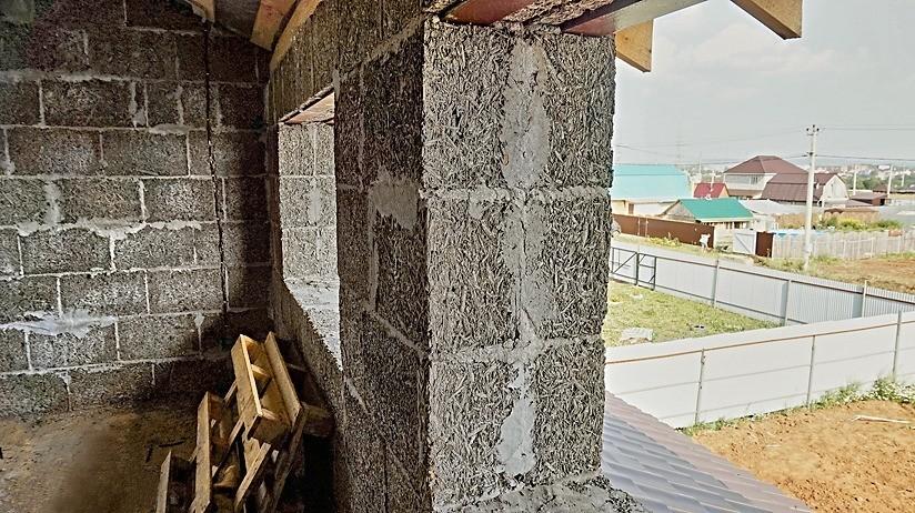 кладка стен из арболита