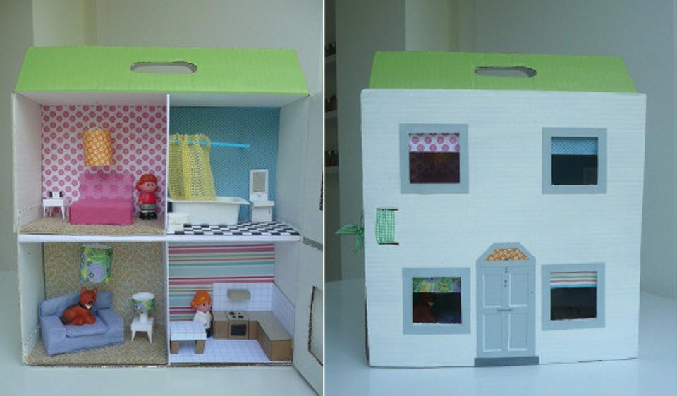 Делаем кукольный домик из коробки своими руками: инструкция по созданию необычного декора