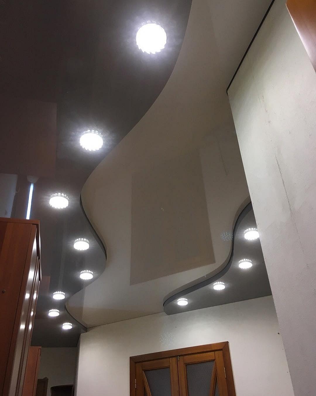 кунжута продукт, натяжной потолок криволинейный с подсветкой фото перед