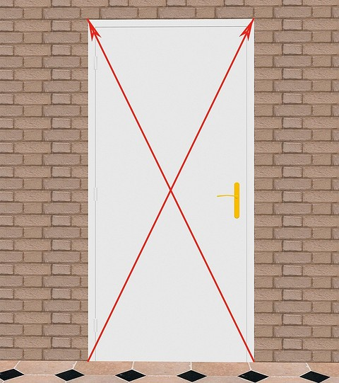 Измерив диагонали, убедитесь, ч...