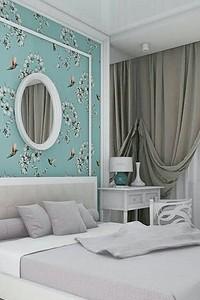 Бирюзовый цвет в интерьере спальни: 70 свежих идей с фото